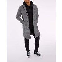 Grey Check Formal Coat
