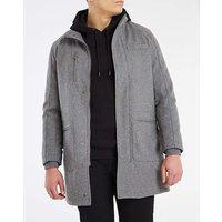 Grey Funnel Neck Coat