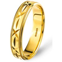 Gold-plated Silver Mens Wedding Band