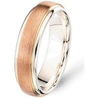 Rose Gold Two Tone Wedding Band