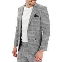 Black Check Jenson Slim Fit Suit Jacket