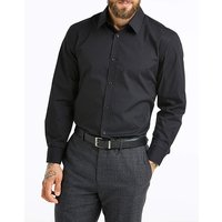 Black Long Sleeve Stretch Shirt Long