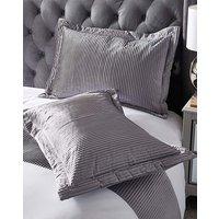 Austen Pleated Grey Pillowsham Pair