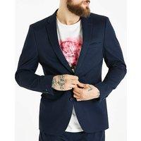 WandB London Navy Cotton Suit Jacket R