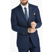 Navy Check Suit Jacket