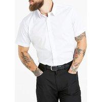 White Short Sleeve Formal Shirt