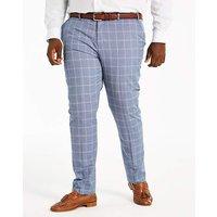 Delta Blue Check Suit Trousers