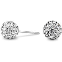 Simply Silver pave ball stud earring