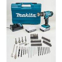 Makita 18v Drill and 74 Piece Set