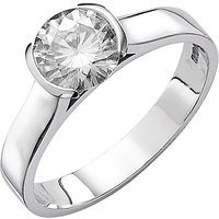Moissanite 9ct Gold 1 Carat Rubover Ring