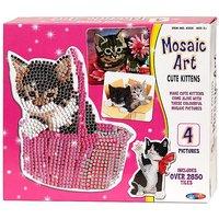 Mosaic Art Cute Kittens.