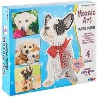 Mosaic Art Playful Puppies.