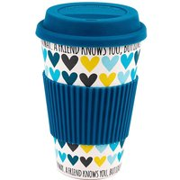 A Friend Loves Your Heart Travel Mug