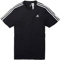 Adidas Black Essentials 3 Stripe T-shirt