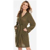 Pretty Secrets Khaki Knitted Hooded Gown