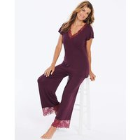 Pretty Secrets Ella Lace Berry PyjamaSet