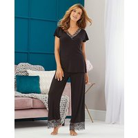 Ella Lace Black Sparkle Pyjama Set
