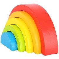 Rainbow Blocks Wooden Puzzle Kid's Toy.