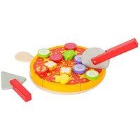 Children's Wooden Cuttable Pizza Toy Set.