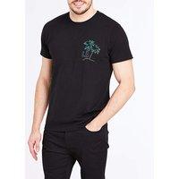 LA Palm Black S/S T-Shirt R