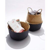 Set of 2 Seagrass Belly Baskets