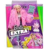 Barbie Extra Doll in Pink Fluffy Coat.