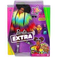 Barbie Extra Doll in Rainbow Coat.