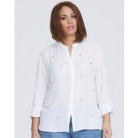 Elvi White Embellished Blouse.