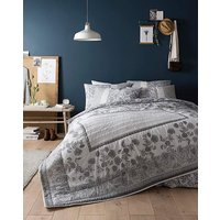 Fat Face Tapestry Tile Grey Throw