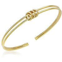 9 Carat Gold Triple-Ring Flexible Bangle.