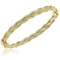 9 Carat Gold Double Twist Bangle.