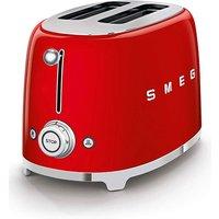 Smeg TSF01 2 Slice Red Toaster.