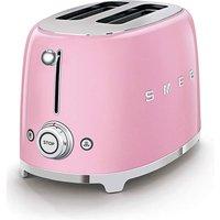 Smeg TSF01 2 Slice Pink Toaster.