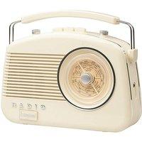 Steepletone Brighton Retro Radio Cream
