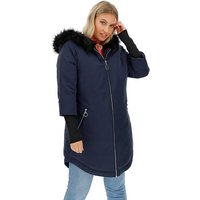 Navy Faux Fur Lined Sporty Parka