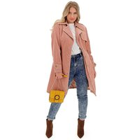 Dusky Pink Cord Trench Coat