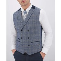 Check Roddie Double Breasted Waistcoat