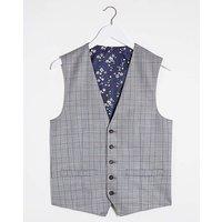 Grey Check Trevor Waistcoat