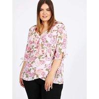 Lovedrobe GB Pink Floral Print Wrap Top