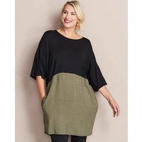 Black/khaki Colourblock Ity Tunic