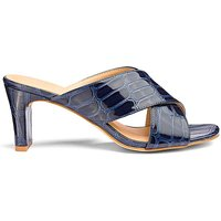 Square Heel Crossover Mules EEE Fit