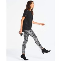 Black & Silver Zebra Sequin Leggings
