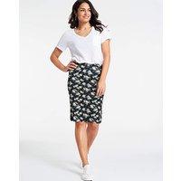 Floral Print Jersey Mini Tube Skirt