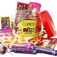 Image of Personalised Retro Sweets Taster Jar