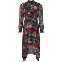 Monsoon Hazel Houndstooth Midi Dress