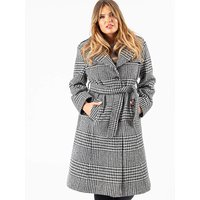 Lovedrobe GB Plaid Tailored Trench Coat