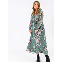 Koko Floral Maxi Shirt Dress