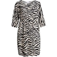 Lovedrobe GB Zebra Print Plisse Dress