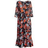 Koko Floral Print Ruffle Hem Maxi Dress