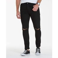 Label J Rip Knee Skinny Jeans 29in Leg